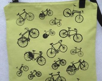 Bicycle Messenger Bag. Bike Messenger Bag. Bicycle Purse. Bike Purse. Bicycle Lover Gift.Bike Lover Gift.Original Screen print.Ready To Ship