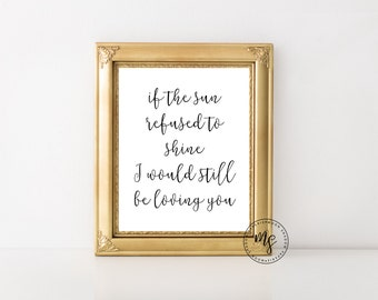 Led Zeppelin Print | Thank You | Song Lyrics | Wall Decor | 8x10 Wall Print | Instant Download