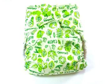 Eco Earth Cloth Diaper, Pocket Diaper, One Size Diaper