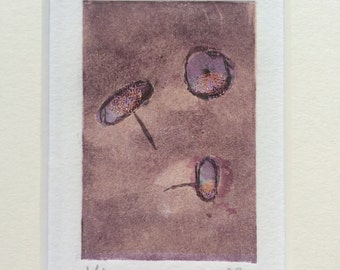 Framed Etching 'Drawing Pins'