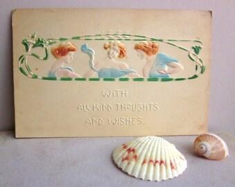 Art Nouveau Postcard - Antique Postcard 1900s Edwardian