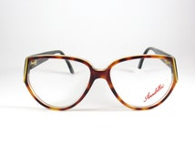 Annabella Mod: A 123,  Vintage Cat Eye Women's Tortoise Eyeglasses, Rare Anna Bella Vintage 80s Eyeglasses made in Italy, NOS