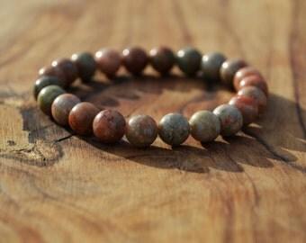 Autumn Jasper - 8mm Genuine Semi Precious Stone Bracelet