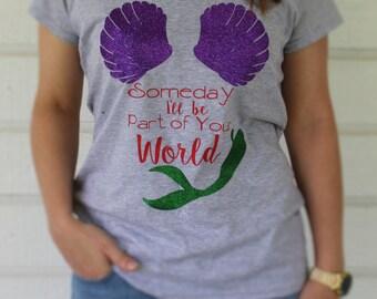Disney Inspired Little Mermaid Princess Ariel Shirt for Women & Girls / Princess Ariel Shirt / Disney Little Mermaid Ariel Shirt