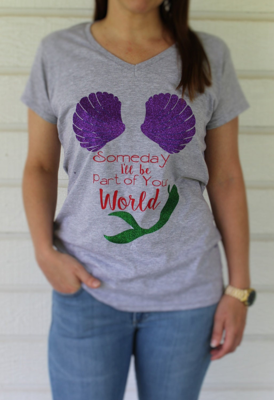 Disney Inspired Little Mermaid Princess Ariel Shirt For Women