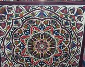 Hasan Kamal, a Beautiful Lotus and Rome Design in Cream background. Master piece by Tentmakers of Cairo.