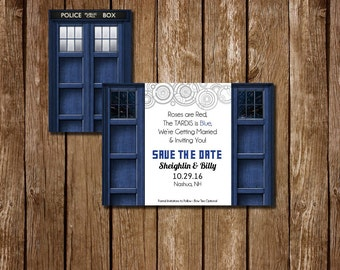 Folding Doctor Who TARDIS Save The Date