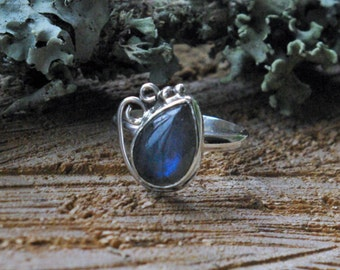 Sterling Silver Labradorite Ring // Made To Order // Crystal Lore // Gifts For Her // Bridesmaids Gift