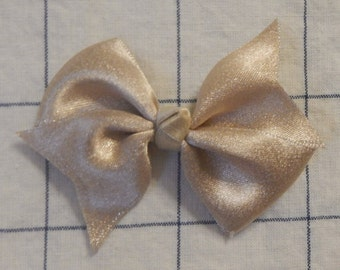 Gold Color Hair Bow, Gold Hair Bow, Hair Bow for Girl, Gold Ribbon Bow,  Two Loop  Hair Bow, Hair Accessories, Hair Bow
