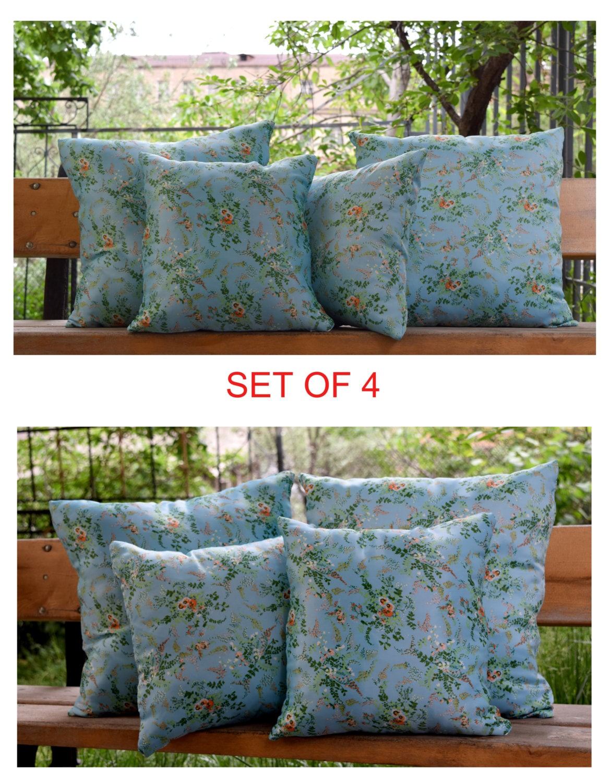 Pillow cover set vintage fabric handmade decorative pillow - Fabric for throw pillows ...