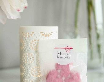 MACARON FRAMBOISE - sachet de 3 fondants de parfum