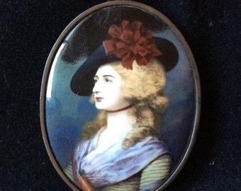 Turn of the Century glass pendant