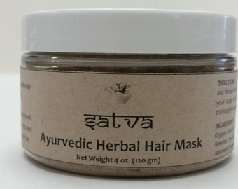 Ayurvedic Herbal Hair Mask (Organic, Natural)