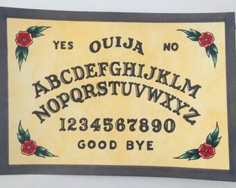 Ouija board painting tattoo flash art