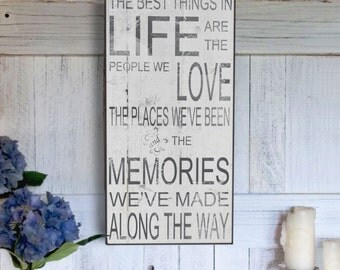 The Best Things In Life Farm Sign, Rustic Farm sign, Vintage Inspired Handmade Signs