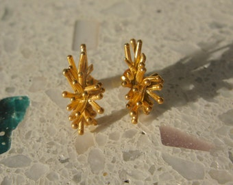 Gold-Plated 'Snowflake' Earrings