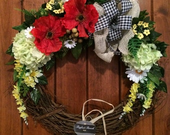 cheap door wreath etsy. Black Bedroom Furniture Sets. Home Design Ideas