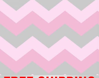 Fleece Fabric Chevron Zig Zag Fabric Pink Free Shipping Style AA 44162-1