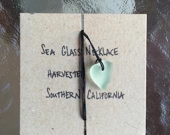 Authentic Aqua Foam Sea Glass Necklace