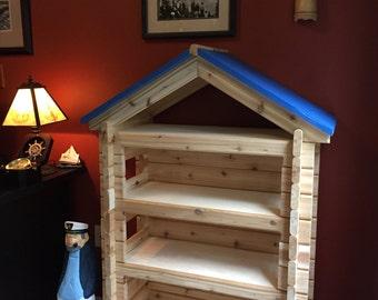 Log Cabin Bookshelf, Kids / Child's Bookcase