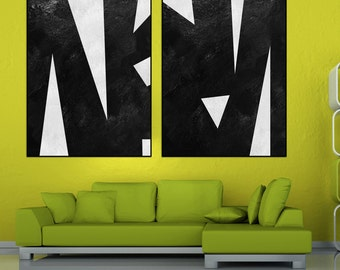 Set Of 2 abstract wall art, extra large wall art, large abstract painting on canvas, original paining, large wall art acrylic painting