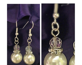 Elegant Imitation Pear Drop Earrings -