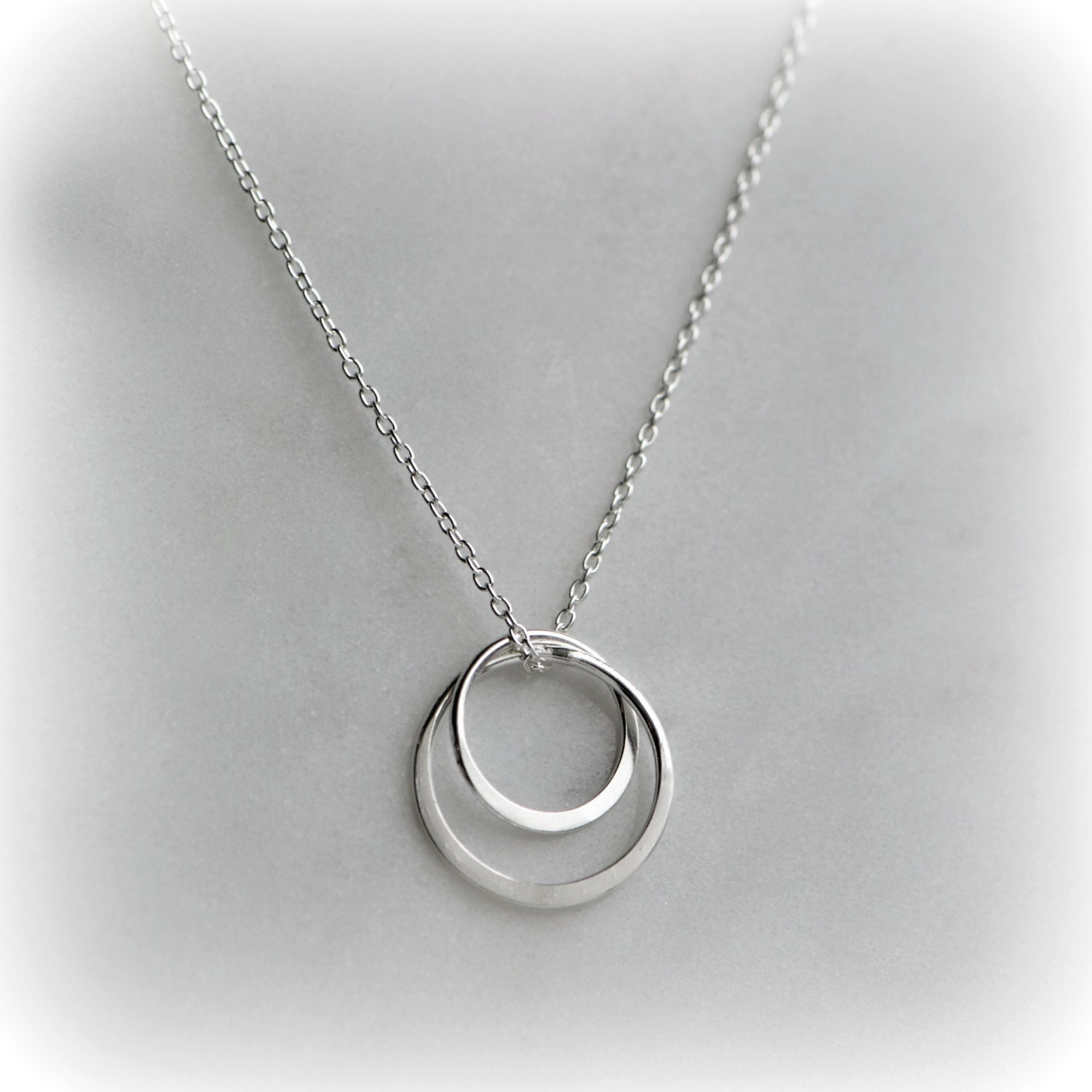 silver circles necklace circle necklace sterling