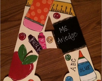 Letter door hanger for teacher