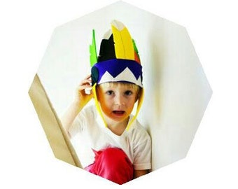 Kids felt Indian headdress