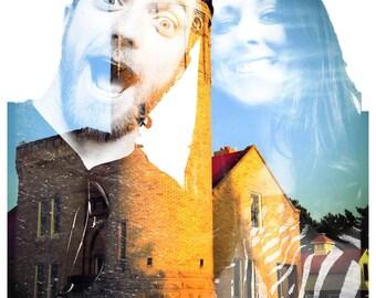 Custom Double Exposure Photography Portrait