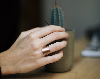 Minimalist ring, rose gold rings for women, rectangle ring, square ring, minimal rose gold filled rings, silver geometric rings, elegant