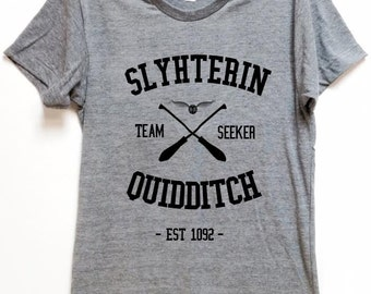 "FOR WIZARDS shirt ""Slytherin Quidditch"" for potter voldemort hogwart fans comfortable affordable artsy tee for birthday gift christmas"