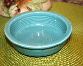 """Homer Laughlin Fiesta Ware Bowl//Turqoise Blue Fiesta Bowl//5 1/2"""" Bowl//Vintage Fiesta Bowl"""
