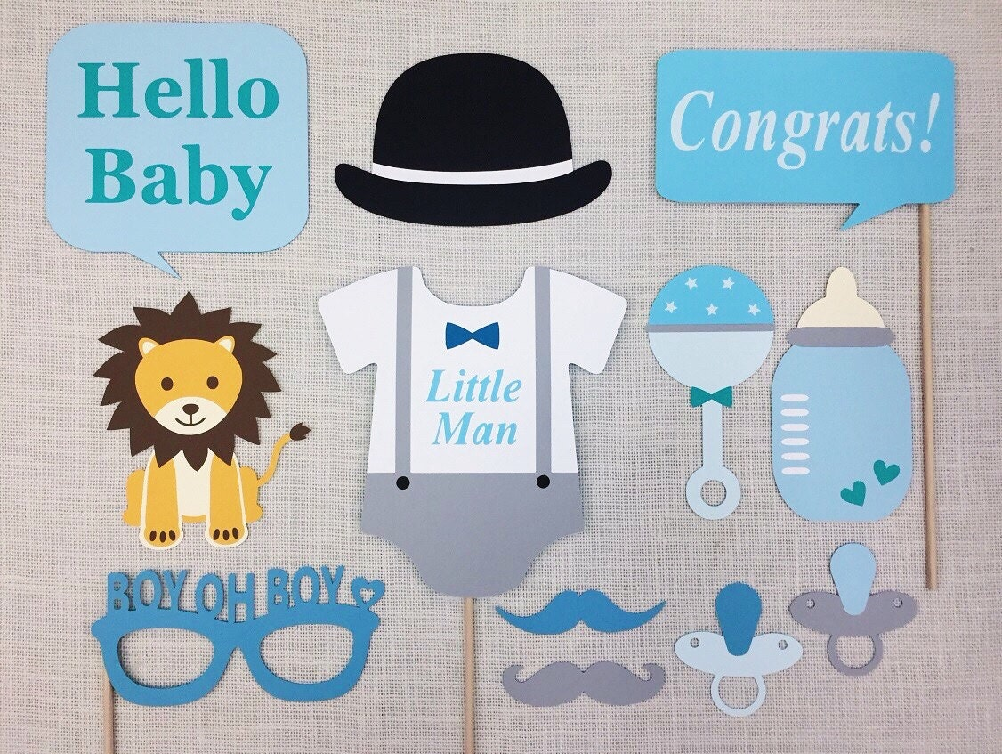 little man baby shower props lion theme babyshower boy oh