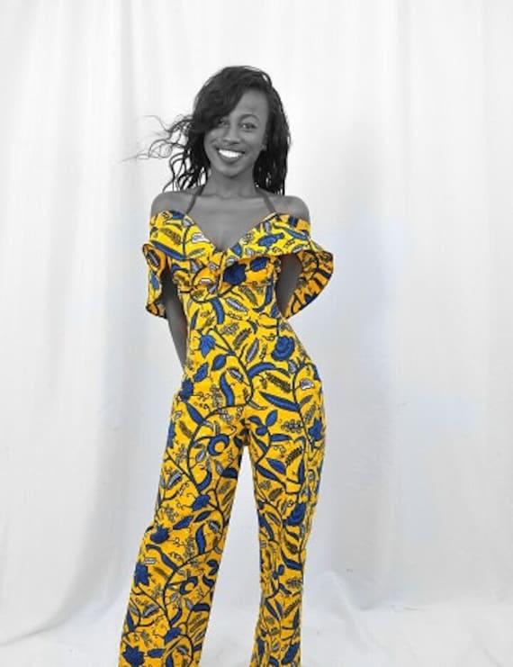 Ankara Jumpsuit. African Print Jumpsuit By TrueFond On Etsy