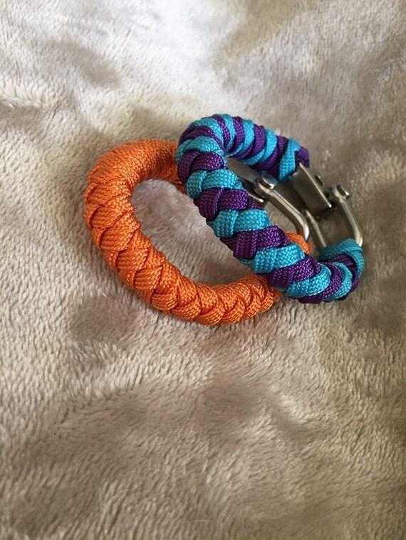 Paracord round braid bracelet