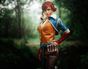Triss Merigold cosplay costume, The Witcher 3: Wild Hunt, witch, charmed, sorceress, charmer, Triss Merigold of Maribor, Halloween costume