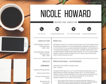 modern resume template resume template instant download for ms word resume template word