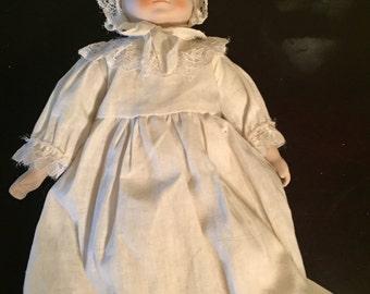 Handmade porcelain baby doll