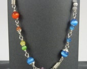"Bracelet with Cat-Eye Beads - ""Rainbow Dash"""