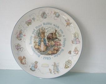 Peter Rabbit 1983 Birthday Plate