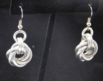 Aluminum Mobuis Ring Earrings with French Hooks