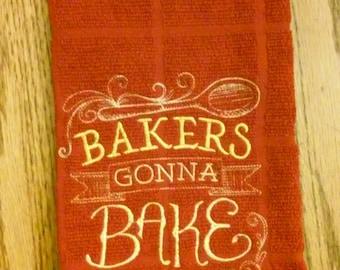 Baker dish towel