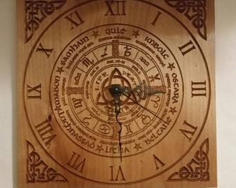 Alder Wheel of the Year Calendar Clock