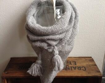 Trendy silver shawl