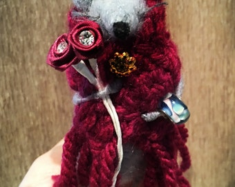 Needle Felted Opera Singer Mouse- Wool Ornament- Little Home Décor- LittleMiniTitchy™