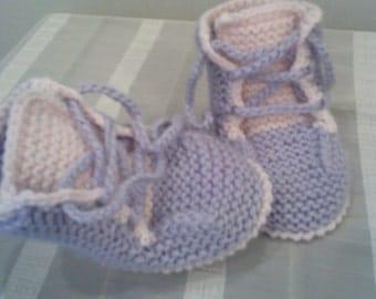 Knitted Baby Booties-Baby Girl Booties-Handmade Snug Bootees-0-3 months,6-9 months-Handmade Baby Gift
