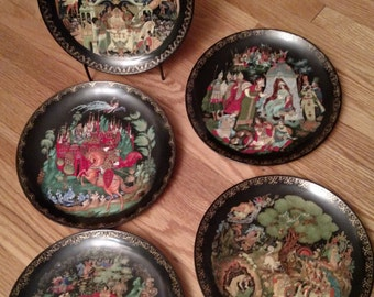 5 Russian Legend/Fairytale Collector Plates