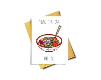 You're The One Pho Me Funny Cards For Boyfriend, Funny Cards For Friends, Funny Birthday Card, Love Card, Card For Boyfriend, Funny Love