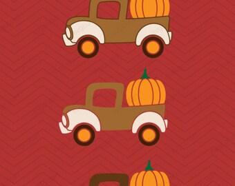 4 Pumpkin Trucks Hearts DXF SVG EPS Cricut Design, Silhouette studio, Sure Cuts Lot, Make the, thanksgiving frame Truck instant Download